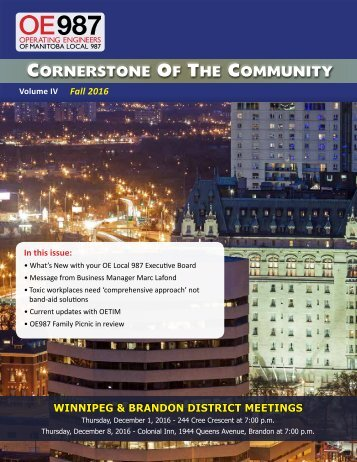Cornerstone Of The Community