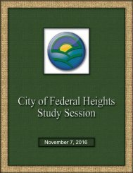 The City of Federal Heights