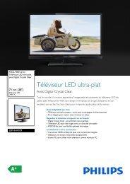 Philips 4000 series Téléviseur LED ultra-plat - Fiche Produit - FRA