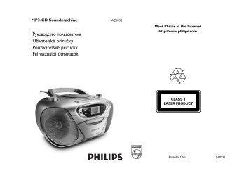 Philips Lecteur de CD - Mode d'emploi - HUN