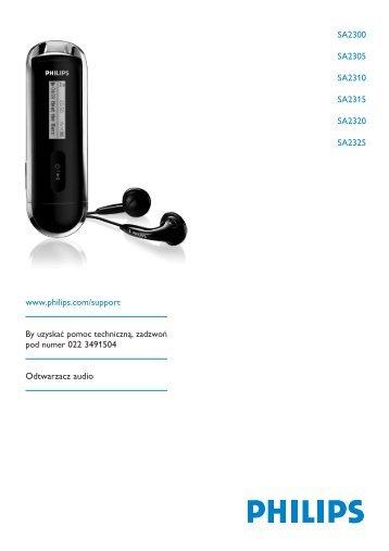 Philips Baladeur audio à mémoire flash - Mode d'emploi - POL