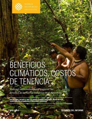 BENEFICIOS CLIMÁTICOS COSTOS DE TENENCIA