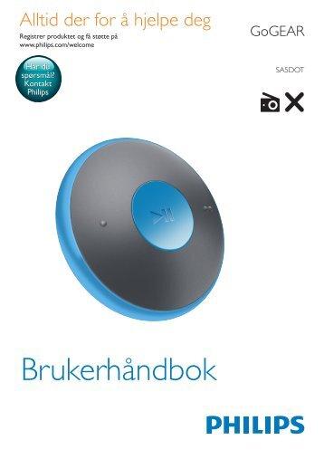 Philips GoGEAR Baladeur MP3 - Mode d'emploi - NOR