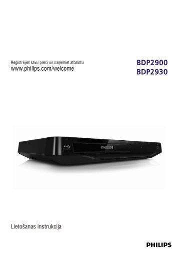 Philips Lecteur Blu-ray / DVD - Mode d'emploi - LAV