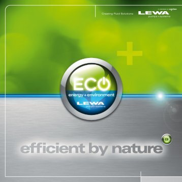 Effiizienz Flyer - LEWA GmbH