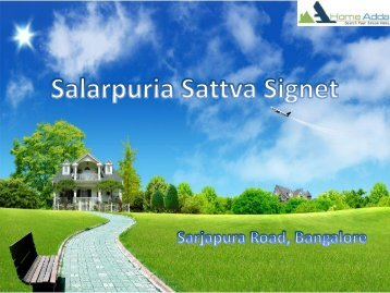 New Apartments from Salarpuria Sattva Group