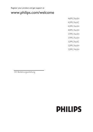 Philips Téléviseur LED - Mode d'emploi - DEU