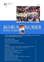 KO-RUS Kurier Nr.6 - Auswärtiges Amt