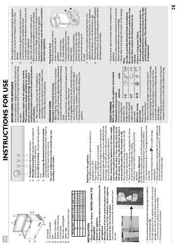 KitchenAid HF1220 B - Freezer - HF1220 B - Freezer EN (850790929010) Scheda programmi