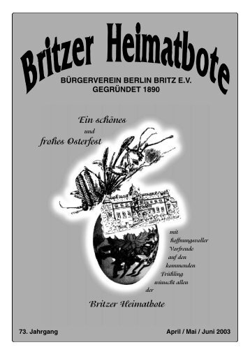 Britzer Heimatbote April/Mai/Juni 2003