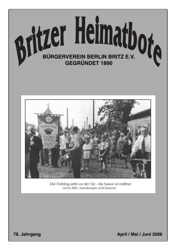 Britzer Heimatbote April/Mai/Juni 2008