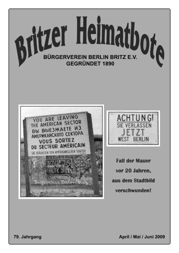 Britzer Heimatbote April/Mai/Juni 2009