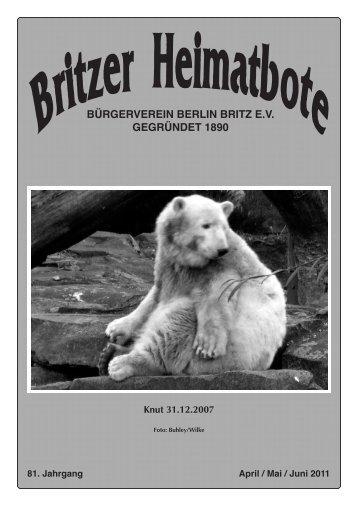 Britzer Heimatbote April/Mai/Juni 2011