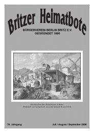 Britzer Heimatbote Juli/August/September 2008