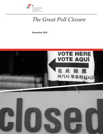 The Great Poll Closure