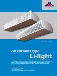 "Air curtains type ""Li - light"" - VTPrincips"