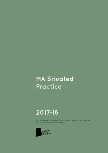 MA Situated Practice 2017-18