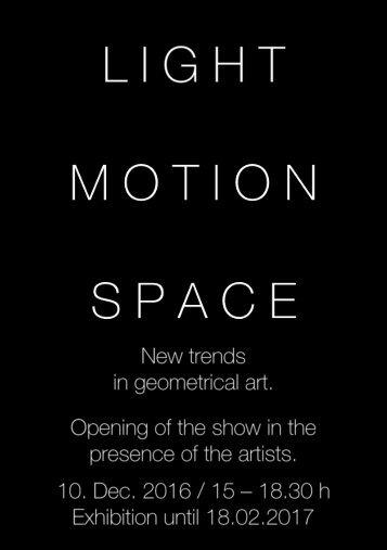 Galerie La Ligne Exhibition invitation 2016