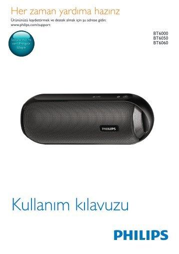 Philips Enceinte portable sans fil - Mode d'emploi - TUR