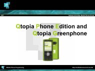 Qtopia Phone Edition - Mobile Devices