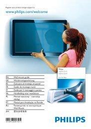 Philips Support mural LCD - Guide de mise en route - CES