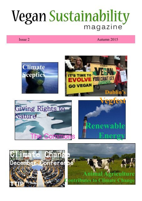 Vegan Sustainability Magazine - Autumn 2015