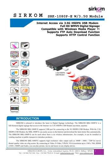 SRK-1080P-EW/3.5G Module - sirkom