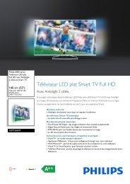 Philips 6000 series Téléviseur LED plat Full HD - Fiche Produit - FRA