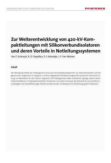 Zur Weiterentwicklung von 420-kV-Kom- paktleitungen mit - Pfisterer