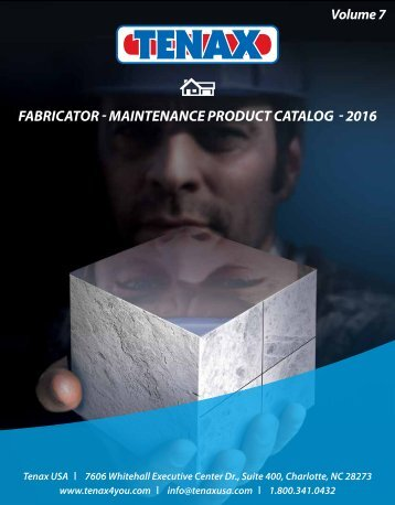 FABRICATOR - MAINTENANCE PRODUCT CATALOG - 2016