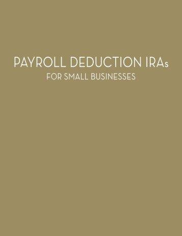 PAYROLL DEDUCTION IRAs