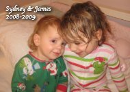 Sydney & James 2008-09
