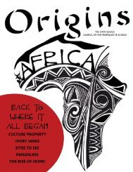 Issue 4: Back to the Origins of Humanity