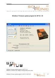 SOLBoot: Firmware update program for SP 25 - 55 - SOLUTRONIC AG