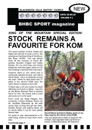 stock remains a favourite for kom - Blackwood Hills Baptist Church