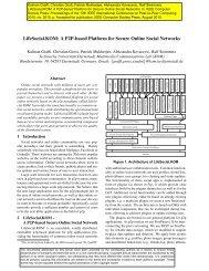 LifeSocial.KOM: A P2P-based Platform for Secure Online Social ...