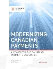 MODERNIZING CANADIAN PAYMENTS
