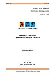 VAT Evasion in Bulgaria A General-Equilibrium Approach