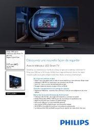 Philips 3000 series Téléviseur LED Smart TV plat - Fiche Produit - FRA