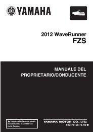 Yamaha FZS SVHO - 2012 - Manuale d'Istruzioni Italiano