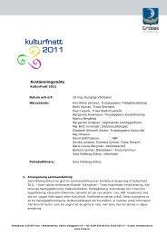 Avstämningsmöte 2011-05-18 - Trosa kommun