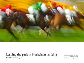 Leading the pack in blockchain banking