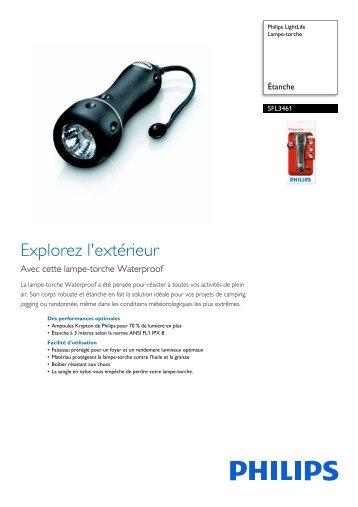 Philips LightLife Lampe torche - Fiche Produit - FRA