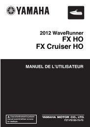 Yamaha FX HO - 2012 - Manuale d'Istruzioni Français
