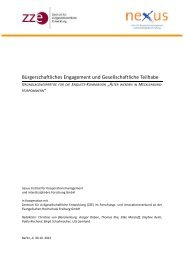 Bürgerschaftliches Engagement und Gesellschaftliche Teilhabe