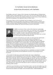 Dr. Paul Dahlkes Kontakt mit dem Buddhismus