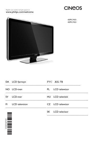 Philips TV LCD - Mode d'emploi - SWE