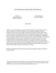 On the Robustness of Higher Order Risk Preferences