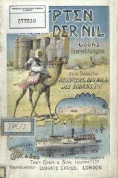 Aegypten und der Nil, Programm von Cook's Arrangements zum Besuche Aegyptens ... 1904-1905