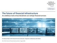 The future of financial infrastructure